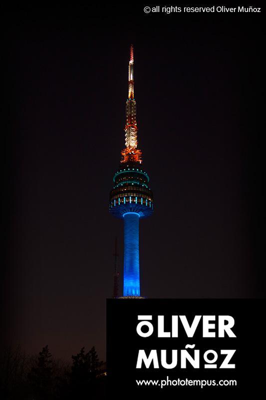Luces en la oscuridad, la noche en Corea del Sur