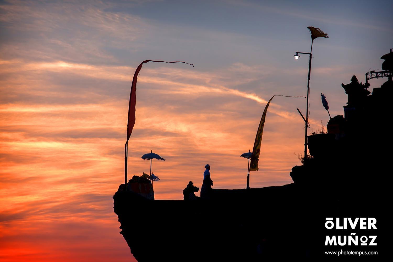 Las fantasticas puestas de sol en Tanah Lot